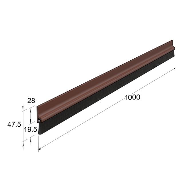 ADHESIVE EXTERNAL WINDBREAK PLASTIC PANEL, BROWN 100